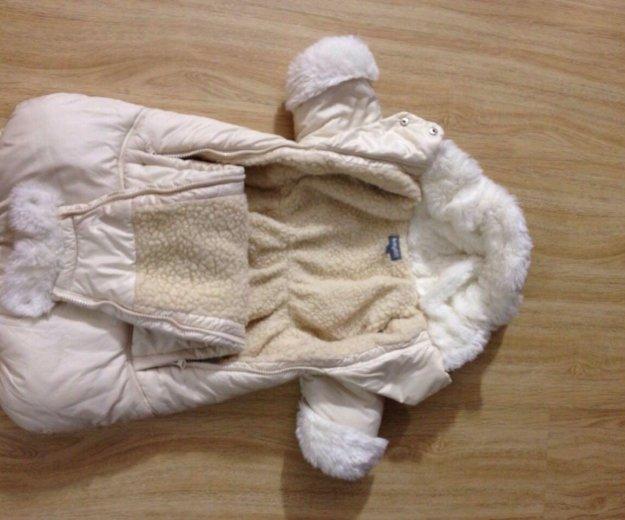 Зимний конверт на овчине. Фото 3.