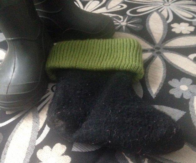 Резиновые сапожки с тёплыми носками. Фото 3. Новосибирск.
