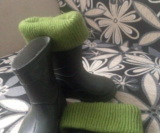 Резиновые сапожки с тёплыми носками. Фото 2. Новосибирск.
