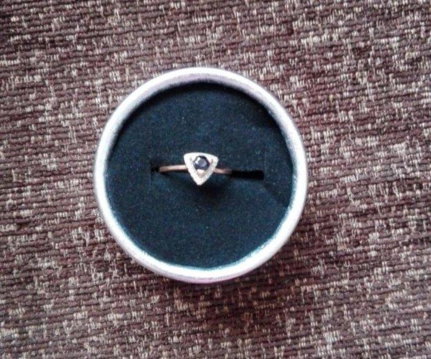Продам золотое кольцо с сапфиром. Фото 2. Краснодар.