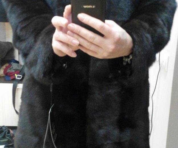 Новая норковая шуба поперечка 90 см. Фото 1. Москва.