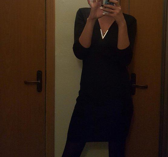Платье черное с молнией сзади. Фото 1. Москва.