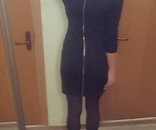 Платье черное с молнией сзади. Фото 2. Москва.