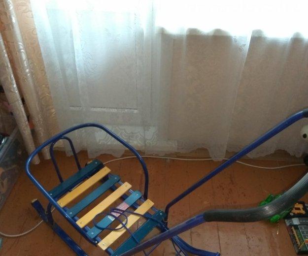 Санки зимние с ручкой и колесиками. Фото 3. Барнаул.