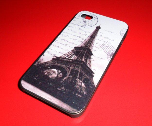 Пластиковый чехол paris на iphone 4/4s. Фото 1. Омск.