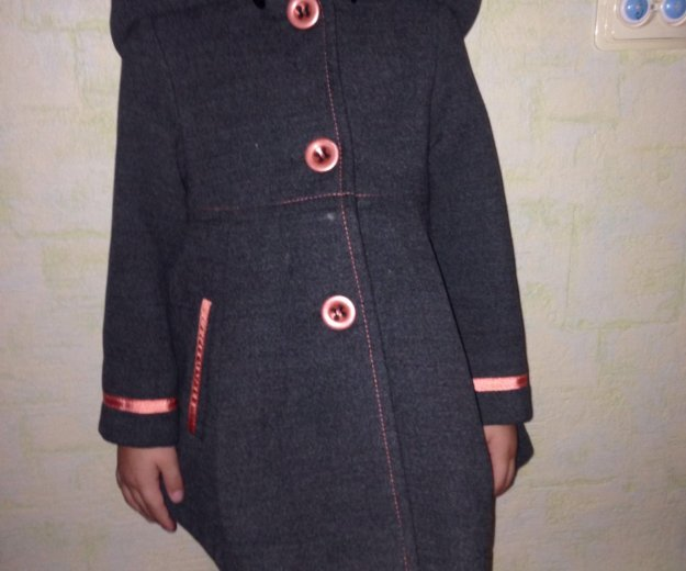 Детское драповое пальто модное. Фото 1. Серебряные Пруды.
