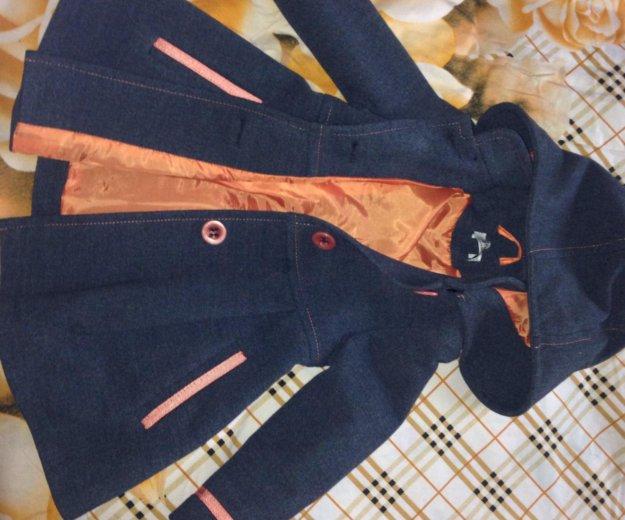 Детское драповое пальто модное. Фото 3. Серебряные Пруды.