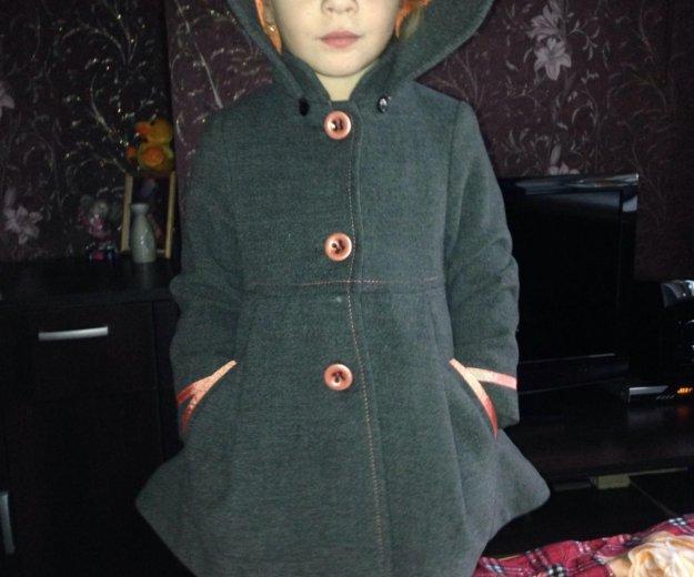 Детское драповое пальто модное. Фото 2. Серебряные Пруды.
