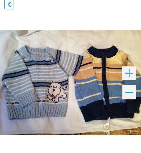 3 флисовые кофты и штаны, свитер на раз.74-80. Фото 2. Москва.
