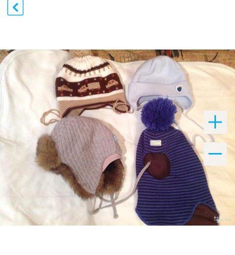 Шапки и шапка- шлем на раз 44- 46. Фото 3. Москва.