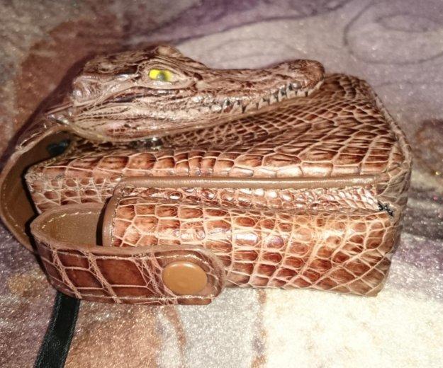Портсигар из кожи крокодила. Фото 3. Люберцы.