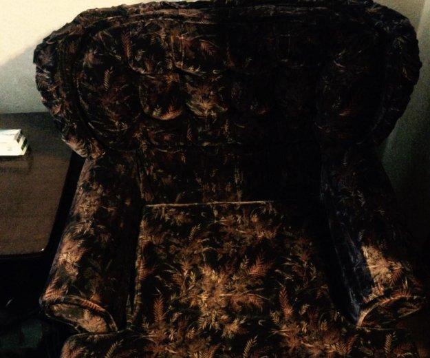 Велюровое кресло. Фото 1. Подольск.