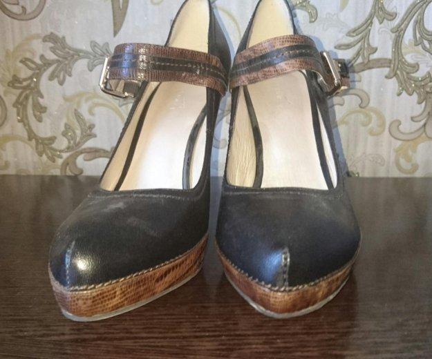 Туфли кожанные р.39- новые, черные. Фото 3. Туапсе.