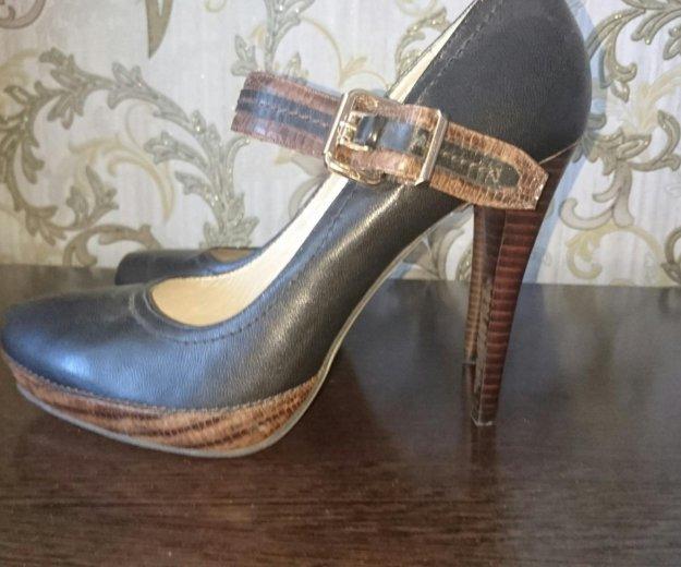 Туфли кожанные р.39- новые, черные. Фото 4. Туапсе.