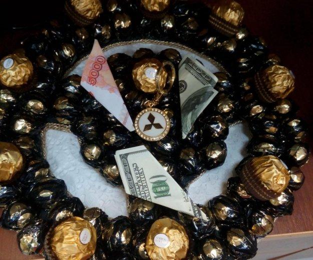 Подарок-руль из конфет. Фото 2. Пушкино.