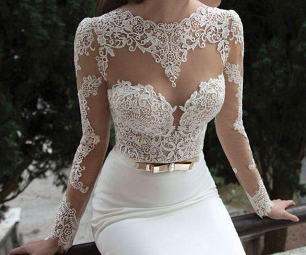 Свадебное платье ( одевала на регистрацию) торг. Фото 1. Альметьевск.