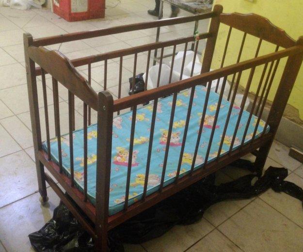 Детская кроватка с матрасом. Фото 2. Тула.