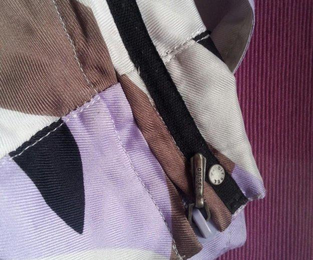 Брендовая шелковая юбка   diesel   оригинал. Фото 3.