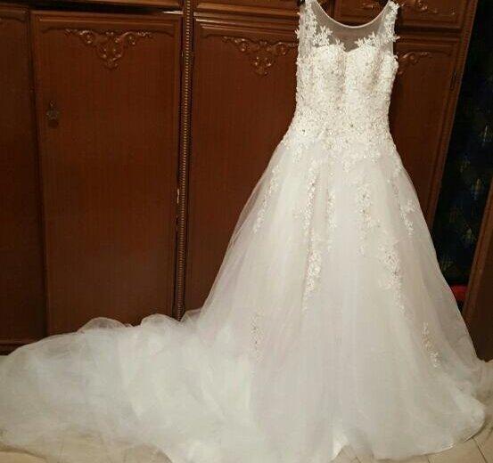 Свадебное платье шлейф. Фото 1. Москва.