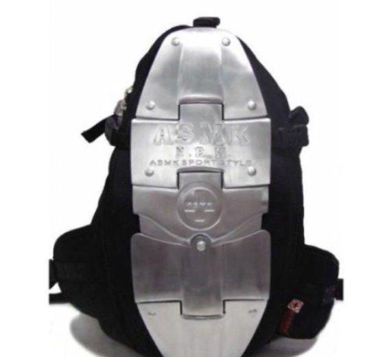 Рюкзак a.s.m.k. с металическими пластинами. Фото 1. Москва.