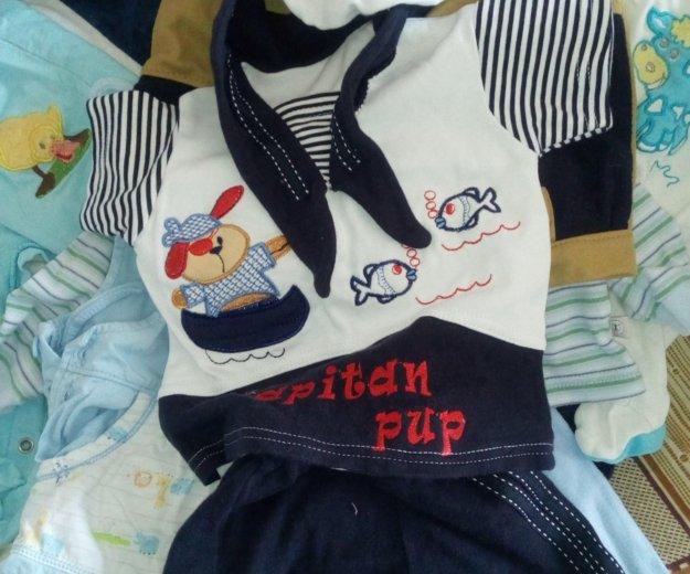 Большой пакет вещей на мальчика 62-68размер. Фото 2. Санкт-Петербург.
