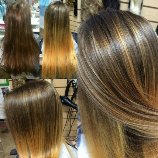 Окрашивание волос. Фото 1. Альметьевск.