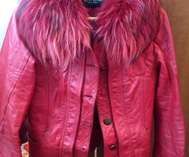 Кожаная куртка. Фото 1. Омск.
