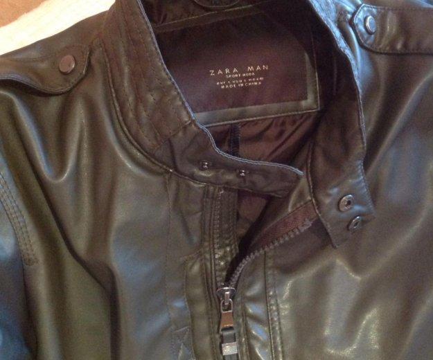 Zara куртка кожаная  italian 46-48 р. Фото 2. Москва.