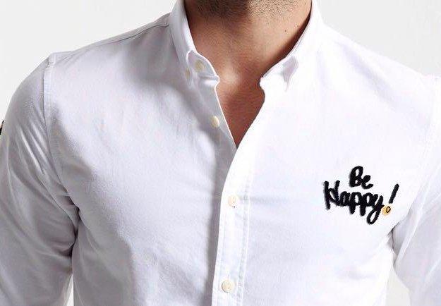 """Рубашка """"be happy!"""". Фото 2. Ростов-на-Дону."""