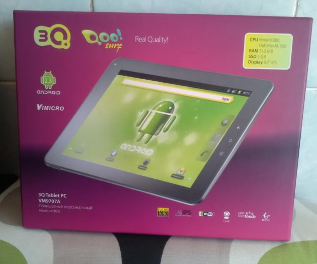 Планшет 3q tablet pc vm9707a. Фото 1. Нарьян-Мар.