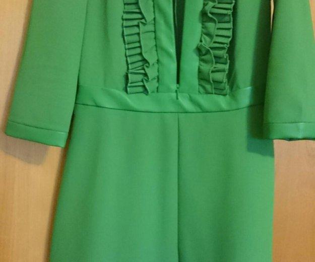 Платье с кожаной отделкой. Фото 2. Москва.