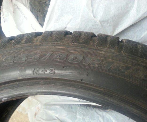 Зимние колеса r18 на merсedes 245/40/r18. Фото 2. Москва.