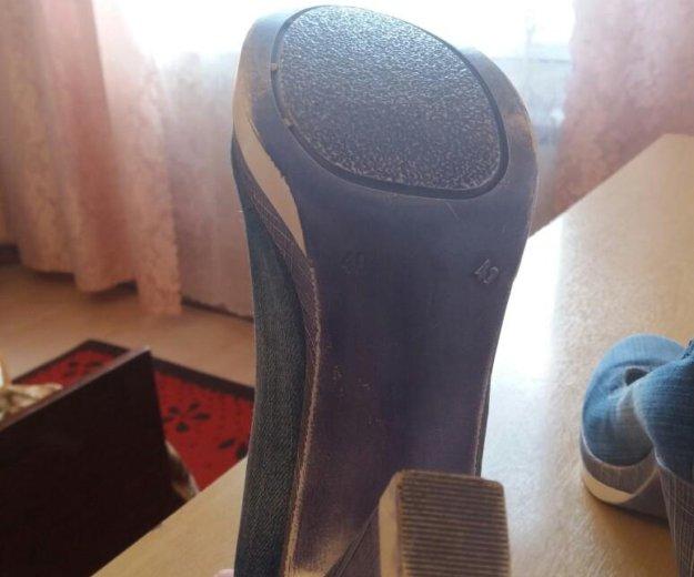 Туфли джинсовые. Фото 3. Серпухов.