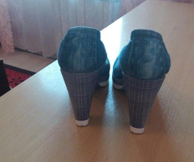 Туфли джинсовые. Фото 2. Серпухов.