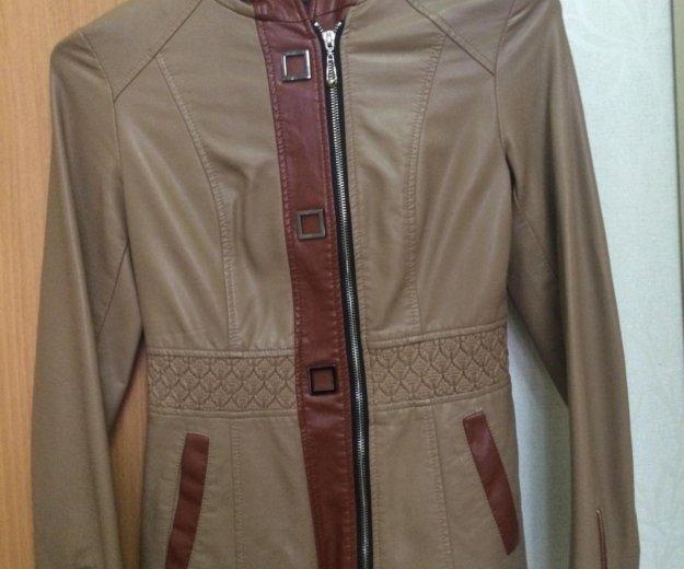 Кожаная женская куртка. Фото 1. Астрахань.