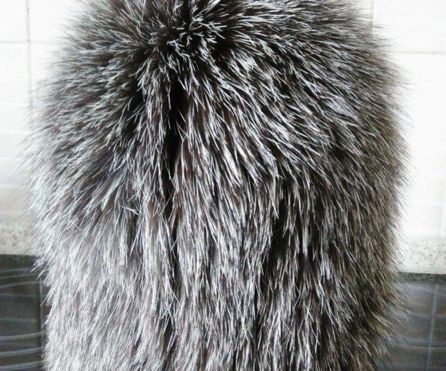 Шапка вязаная мех чернобурка. Фото 1. Лобня.