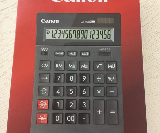 Калькулятор canon. Фото 1. Уфа.