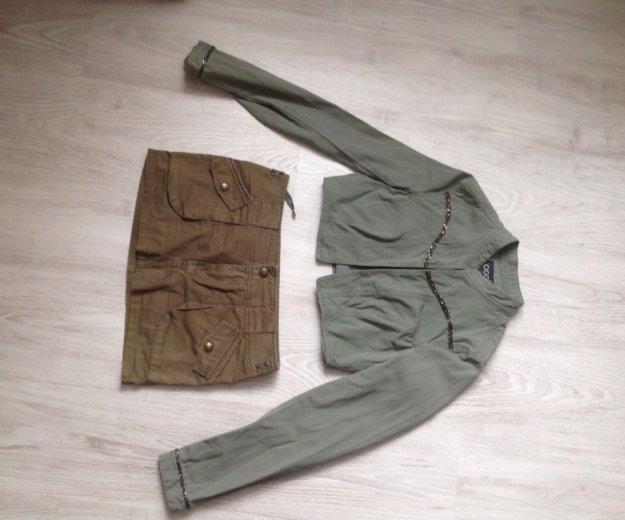 Юбка,пиджак,ботинки bershka милитари. Фото 2. Санкт-Петербург.