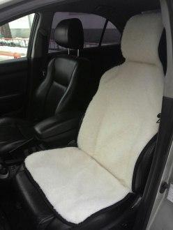 Меховая накидка на кресло авто 50х142. Фото 2. Пермь.