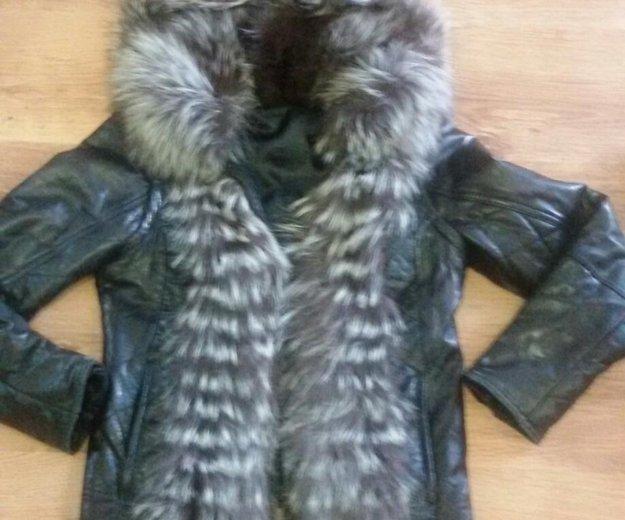 Продам кожаную куртку с отделкой из чернобурки!. Фото 1. Балаково.