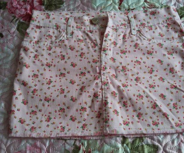 Юбка розовая в цветок. Фото 1. Старокорсунская.