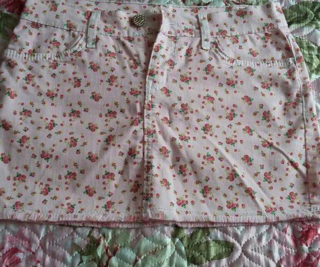 Юбка розовая в цветок. Фото 2. Старокорсунская.