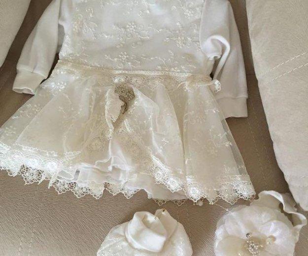 Платье пинетки , повязка. Фото 1. Армавир.