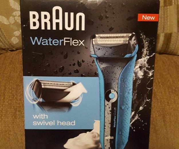 Электробритва braun waterflex wf2s (синяя) новая!. Фото 1.