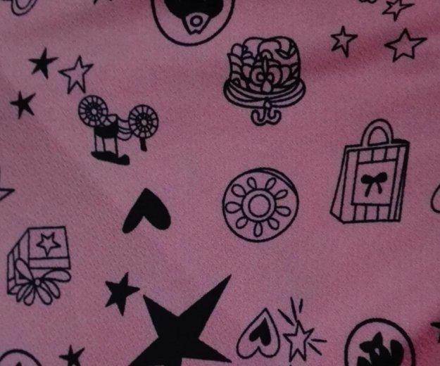Свитшот розовый с черным рисунком. Фото 2. Москва.