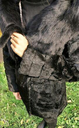 Шуба из меха кролика. Фото 1. Москва.