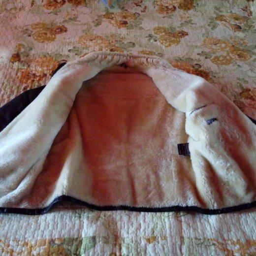Зимняя кожанная куртка с натуральной овчиной. Фото 3. Мончегорск.