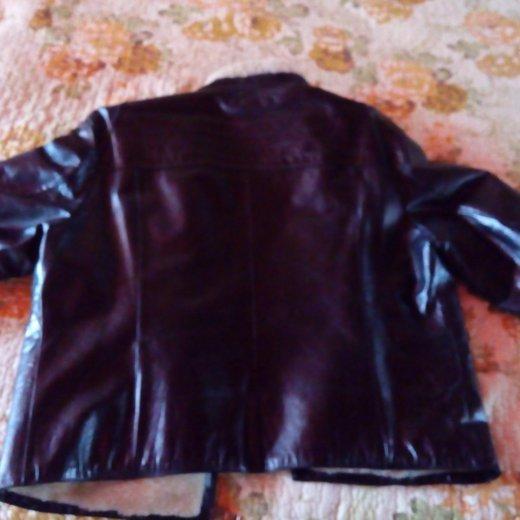 Зимняя кожанная куртка с натуральной овчиной. Фото 4. Мончегорск.