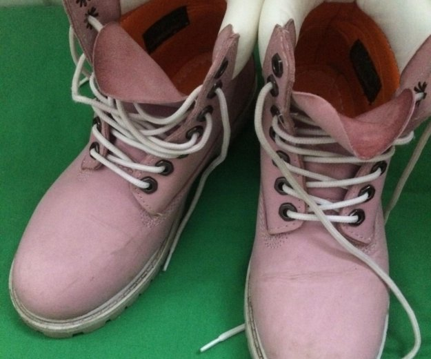 Розовые timberland. Фото 1.