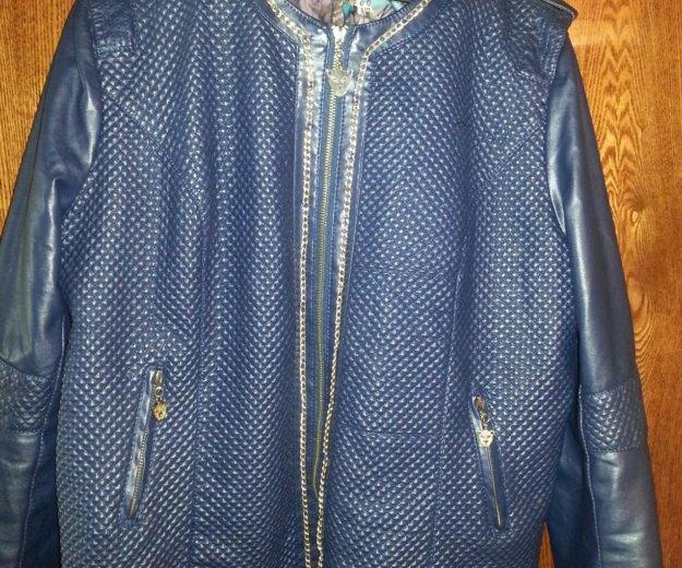 Куртка синяя, короткая. Фото 2. Санкт-Петербург.